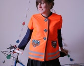 JOYRIDE High Vis Bicycle Vest Tunic riding in the Dark