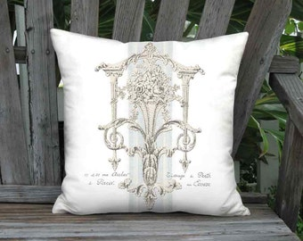 Pillow Cover - Pillow - Château de Versailles French Country Grain Sack Style - 16x 18x 20x 22x 24x 26x 28x Inch Linen Cotton Cushion Cover