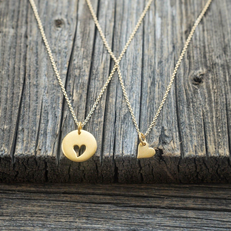 gold mother daughter necklace set kids baby jewelry 24k. Black Bedroom Furniture Sets. Home Design Ideas