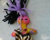 Mini Voodoo girl Super Cute Felt Doll