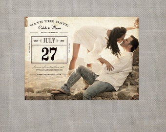 """Save the Date, Save the Date Magnets Save the Dates, Vintage Save the Date - the """"Calista 4"""""""