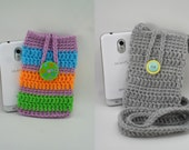 Digital Download PDF Crochet Pattern - Phone Cozy and Sling - DIY Coin Purse Pouch
