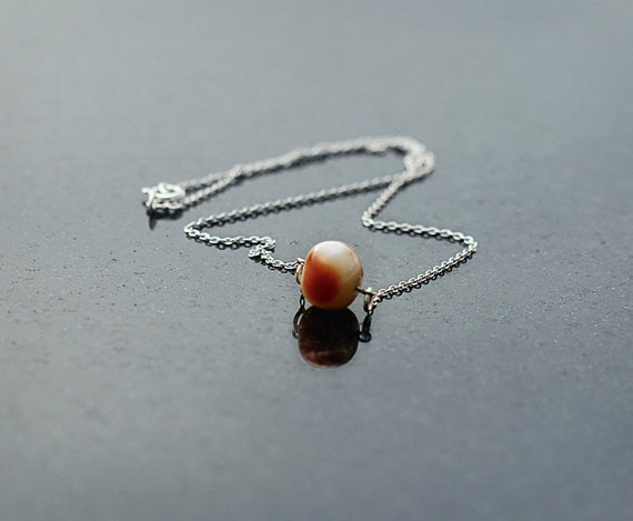Handmade Necklace of SUCCESS- Amber on Sterling Silver 925 chain- 45cm long
