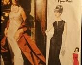 Vogue Paris Original 1341 Evening Gown Dress & Stole Vintage 60s Sewing Pattern Nina Ricci Sz 10