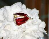 Rose bud vintage brooch, vintage jewelry, pin, Flower, Valentine