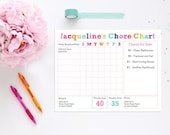 Printable Chore Chart - INSTANT DOWNLOAD Editable Chore Chart by 505 Design Inc