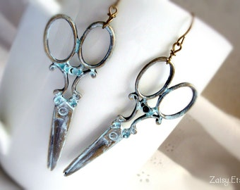 Scissors Earrings, Fashion Jewelry, One Pair (1)