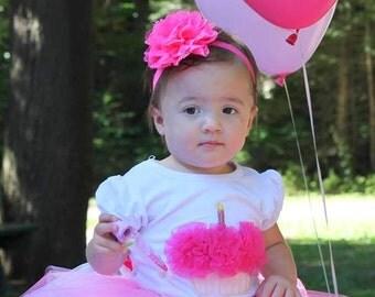 Pretty in Pink Tutu - Shocking Pink, Pink and White Tutu - Sizes 0 month - 5T