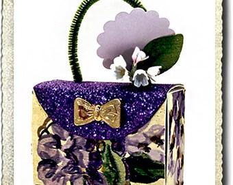 Wedding Shower Party Favor Candy Purse Handmade