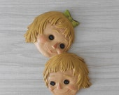 CLEARANCE vintage doll head wall hanging // baby bedroom nursery decor