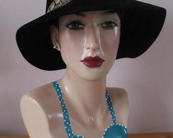 1960's Hat, Feather Band, by Frank Olive