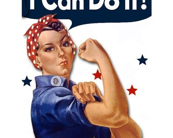 RtR-8. Pair of Rosie the Riveter TATTOOS (2 styles): AWESOME, COLORFUL, Empowering Strong Women--Parties, Gifts, Rockabilly