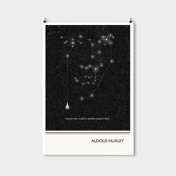 Literary Art Prints Aldous Huxley Quote Poster