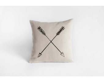 Arrows Pillow- 100% Hemp