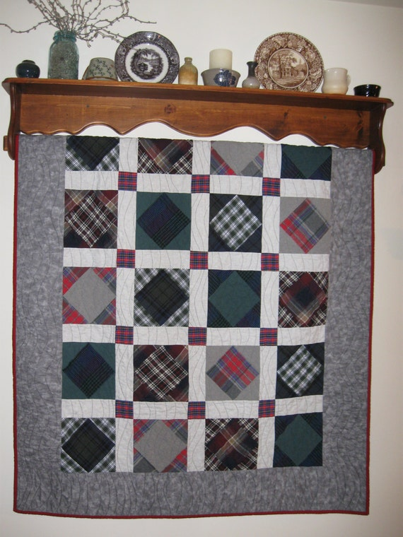 Items similar to Memory Quilt - Square in a Square Pattern on Etsy