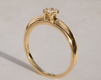 Engagement Ring - 14K Gold and Diamond engagement ring, celtic ring, engagement ring, wedding band, crown ring, art deco, edwardian, 1