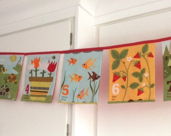 Number Bunting 1-10 Farm French Spanish Numbers 10 Extra Large Flags
