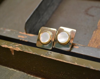 1960s Mother of Pearl Cuff Links