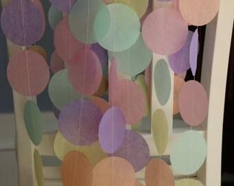 Tissue Paper Garland, Photo Backdrop, Wedding Backdrop, Party Garland, Birthday Garland, Wedding Garland, Spring Garland - Pastel Hues