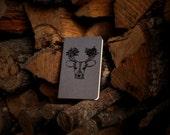 Gray Forest Deer Pocket Size Blank Moleskine Notebook Journal Gocco Screenprint
