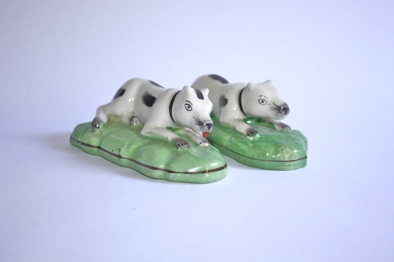 RESERVED for Scott  English Dog Figurines, Pair of Bull Terriers