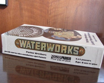 """Vintage 70's """"Water Works - Leaky Pipe Game"""" - 1972 - Parker Brothers - Game Night - 2 to 5 players - ages 8+ - Plumbing Game - Plumber"""