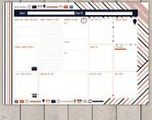 Entrepreneurs Day Planner Printable To Do List Striped Business Organiser