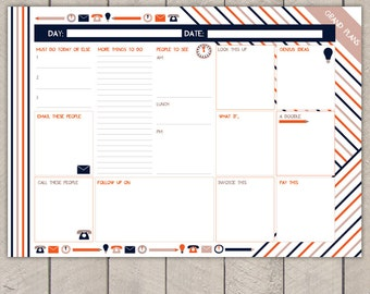 Entrepreneurs Day Planner Printable To Do List Striped Business Organiser