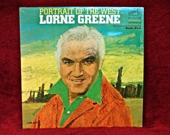 LORNE GREENE - Portrait of the West - 1966 Vintage Vinyl Record Album