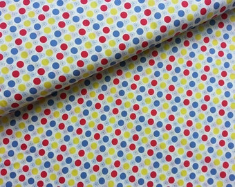 Kawaii Japanese Fabric Cotton Yuwa - Flower Circle - a yard