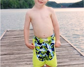 Cowabunga Board Shorts: Board Shorts Pattern, Boys Swimsuit Pattern, Swim Shorts Pattern, Swim Trunks Pattern