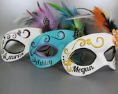 Leather Masquerade Mask with Custom Text