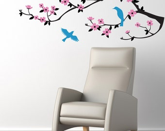 Wall Decal  - Cherry Blossom Branch.  Wall Decal Sticker