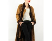 Vintage Penny Lane coat / Leather and suede shearling Russian princess S M