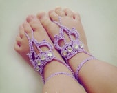 Barefoot Sandals Crochet Pattern Crown - Baby / Toddler / Children/ Teen / Woman Crown Sandles - Instant DOWNLOAD