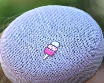 Pastel purple ice lolly small summer button cocktail hat