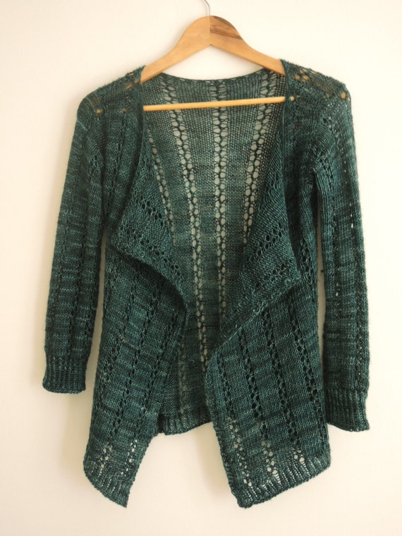 Lace Cardigan Knitting Pattern : KNITTING PATTERN Cardigan Easy Lace Knitting Pattern Pdf