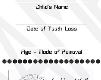 INSTANT DOWNLOAD *** Tooth Fairy Receipt for Children - DIY Tooth Fairy Magic, Payment Receipt, Fake Receipt, Fairy Magic