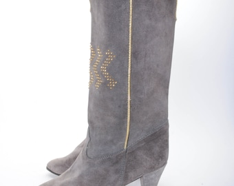 Tall Grey Suede Boots Women's Size 9