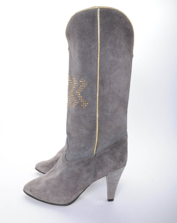 grey suede boots s size 9