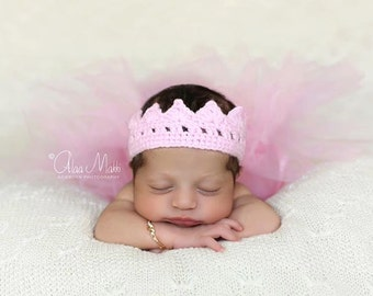 newborn photo prop, Newborn crown, newborn girl, newborn knit crown, newborn boy, newborn props, photo props, newborn boy props, pink crown