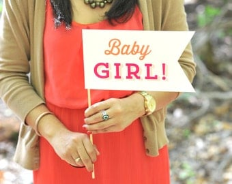 Photo Prop - Baby Girl - Baby Shower Collection