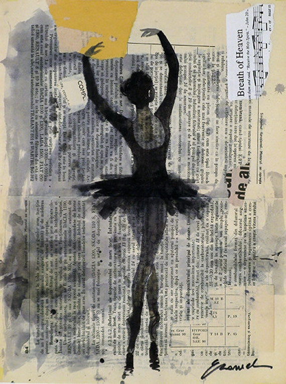 Print Art poster best Valentines gift home decor Ballet