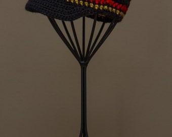 Chicago Blackhawks Inspired Crocheted Baseball Cap (Newborn - Children Size) (Made to Order)