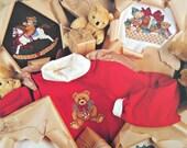 Teddy's Christmas Closet in Waste Canvas, Leisure Arts, Vintage 1990