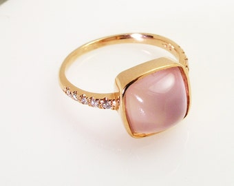 Rose Quartz Ring.