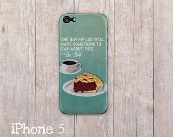 Twin Peaks Coffee and pie iPhone Case, Log Lady Quote iphone cover, iphone6, iPhone 5s case, iPhone 5 case, iPhone 4 case, Paper Quilling
