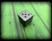 "1"" FORGED METAL DIE  by Naz - Gifts for Him - Gifts for Men - Hand Forged - Man - Hammer Textured by Hand - Distressed - Groomsmen Gift"