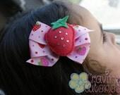 Boutique Strawberry Hair Bow - Meet Miss Shortcake