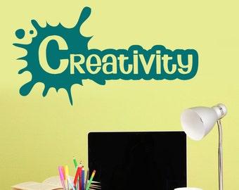 CREATIVITY - vinyl wall decal